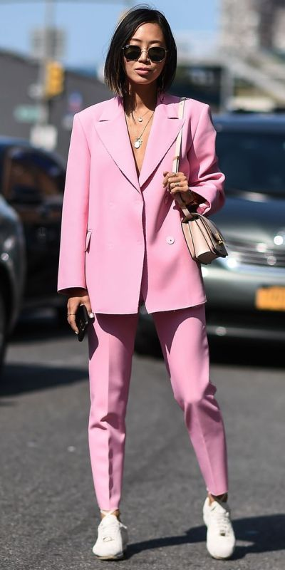 wersm colour block suit