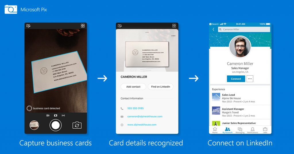 Microsoft Pix Gets Smarter With Business Card Scanning On iOS ...