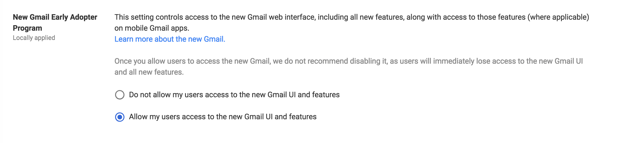 wersm-enable the new gmail on gsuite