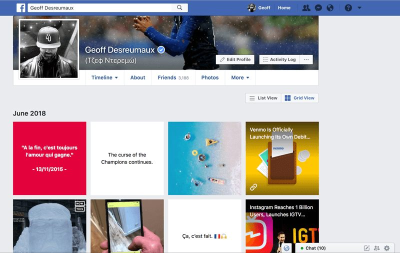 Facebook Is Rolling Out A New Grid View For Profiles • Facebook