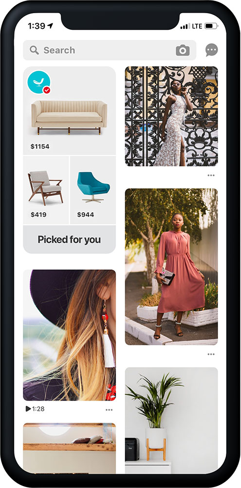 pinterest shopping recommendations