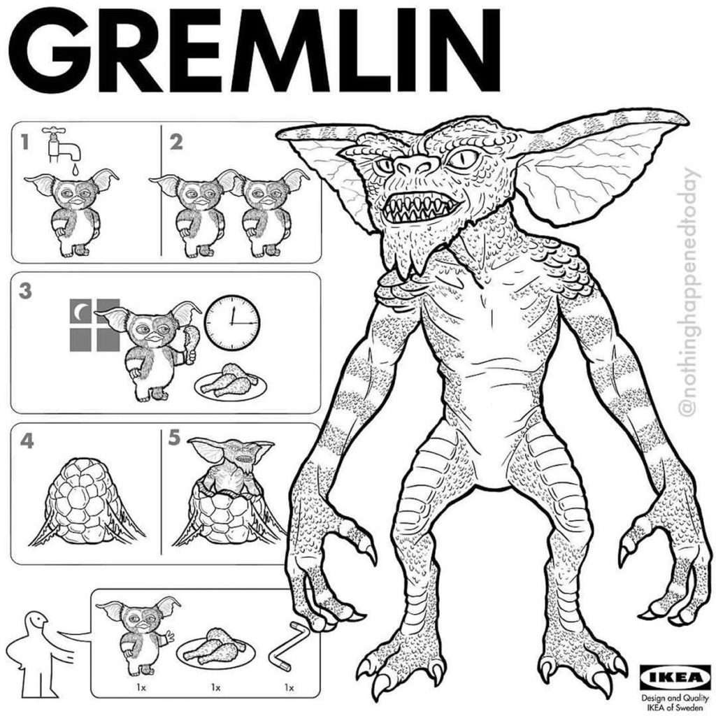 IKEA Instructions To Assemble Your Favorite Horror Characters