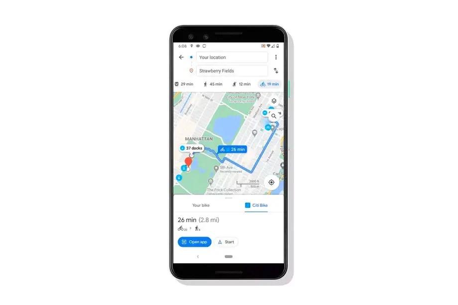 google maps bike share