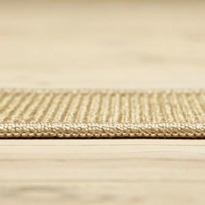 lysebrunt sisal boucle tæppe med kant