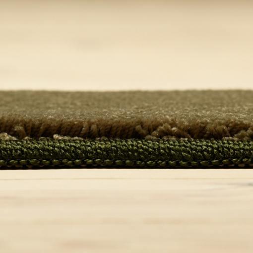 skovfarvet tæppe fra WeRug med kant løst tæppe