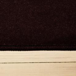 plum farvet tæppe med kant