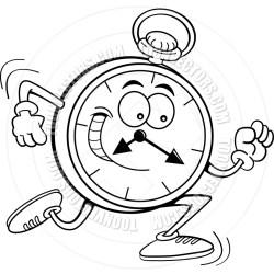 clock timeless line cartoon stopwatch running drawing clip drawn run pocket clipart clocks events toon noggin 5k timed results runs