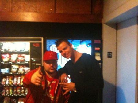 with DJ Ronin in Chung King Studios, NY