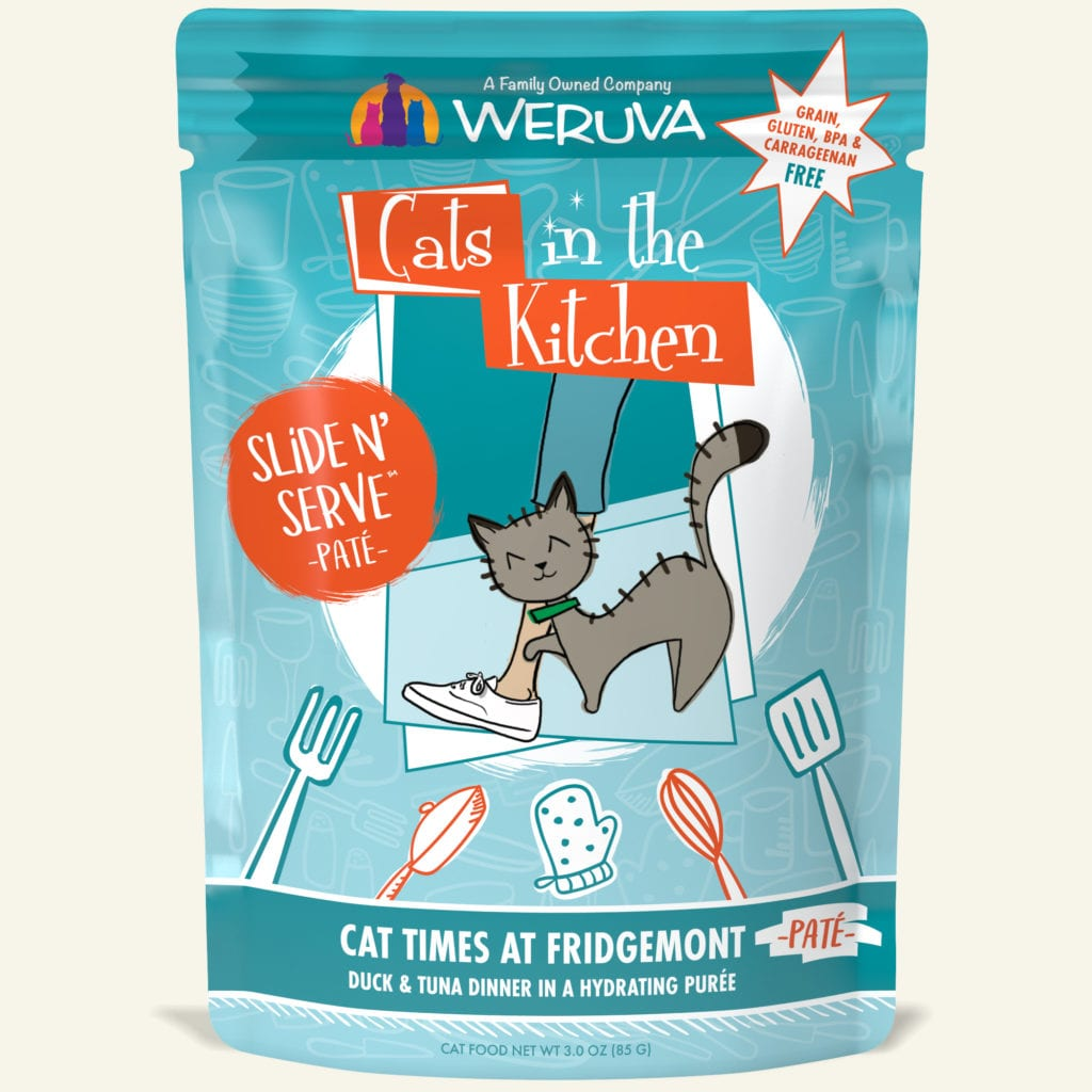 cats in the kitchen appliance packages stainless steel pate pouches weruva because we luvya flavors