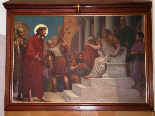 De eerste statie: Jezus wordt veroordeeld