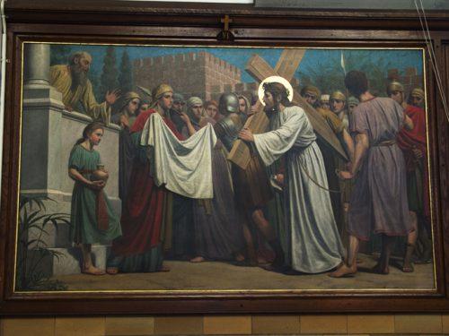 De zesde statie: De zweetdoek van Veronica