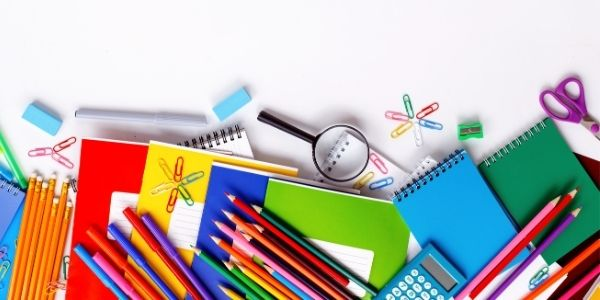Picture of school supplies