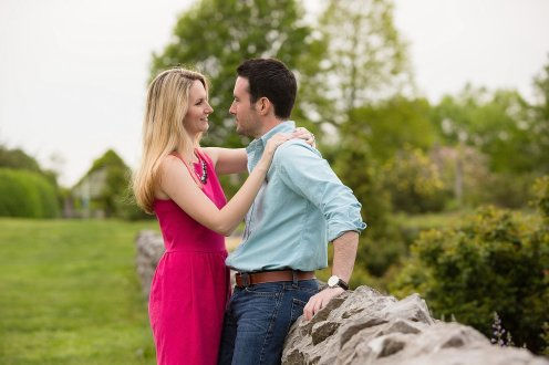 Shelby+Matt's Engagement Session at The Arboretum in Lexington, KY