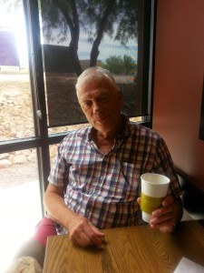 Wes Choc Having a Coffee