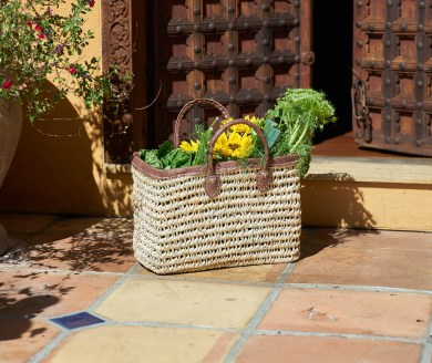 One of Casablanca Market's handmade baskets. Courtesy photo