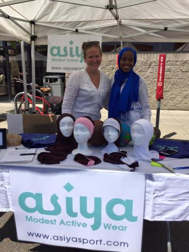 Fatimah Hussein and Jamie Glover with Asiya products. Courtesy photo