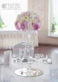 Dekoracja ślubna - piwonie - bukiet na stół