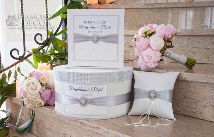 zestaw ślubny - ivory, pudrowy róż