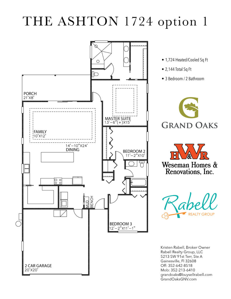Grand Oaks Floor Plan - Ashton 1