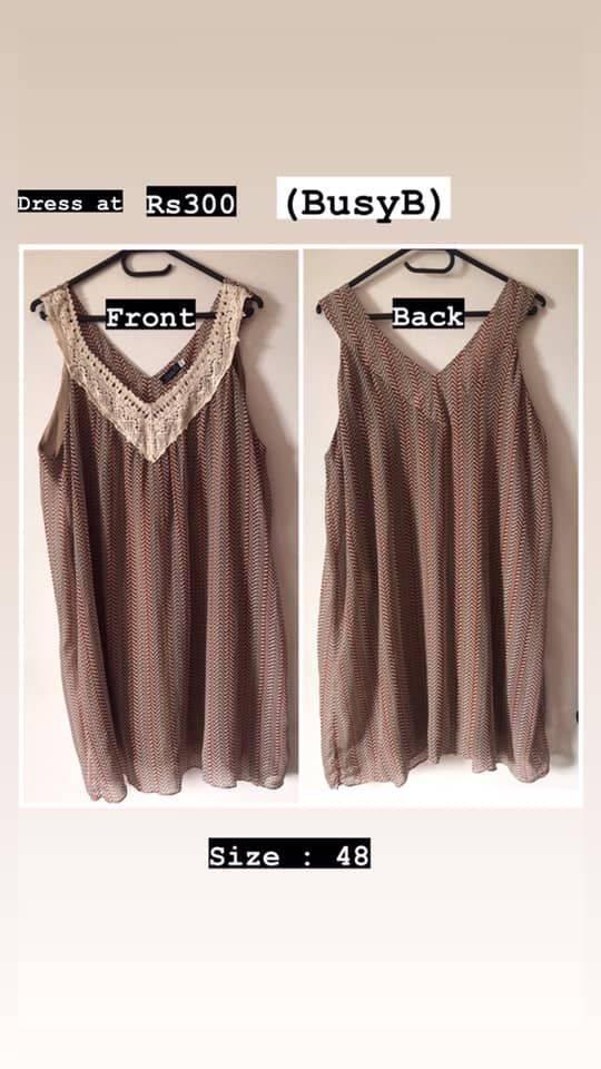 chic short dress busy b size 48
