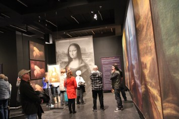 A huge exhibit on the Mona Lisa