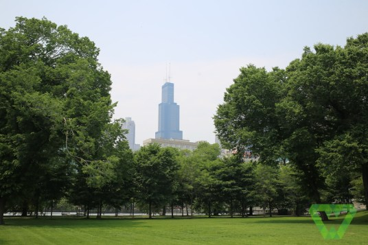 Chicago City Skyline from Millennium park