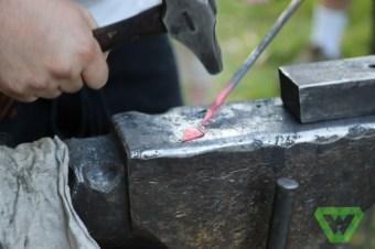 Blacksmithing a leaf
