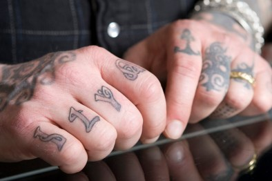 There is nothing impulsive on Blake's body. When his mother passed away recently, the woman who among other things imparted her love of lasting art and culture, Blake got her name tattooed on his knuckles.