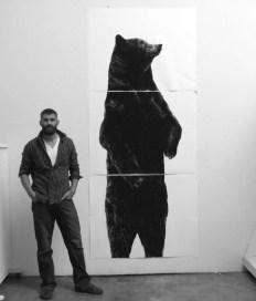 Santa Fe studio with Standing Bear