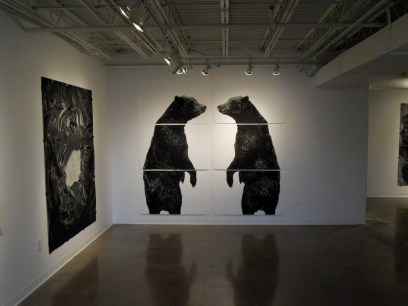 Two Standing Bears (installation shot)