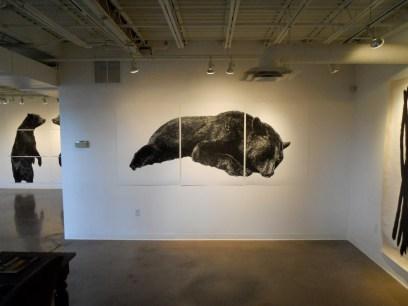 Fallen Bear (installation shot)