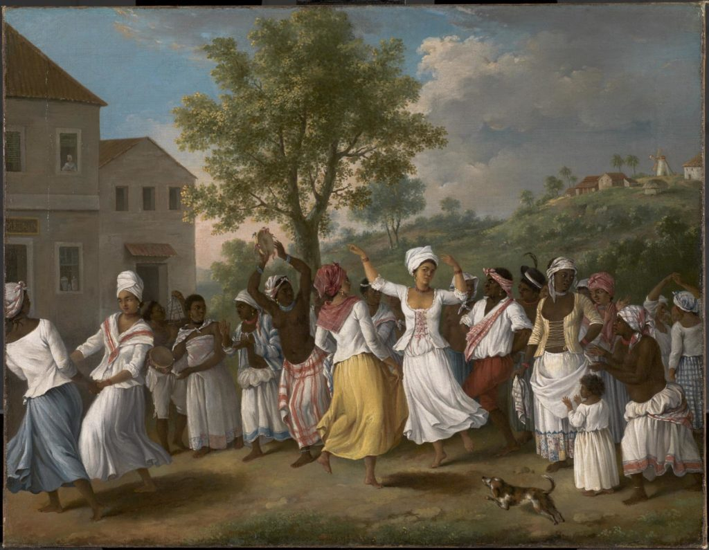 Dancing Scene in the West Indies 1764-1796 by Agostino Brunias c.1730-1796