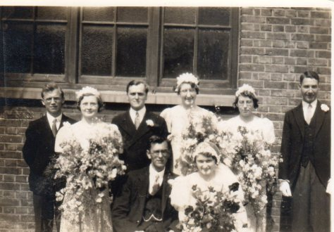 Charles and Marjorie Cradduck's wedding, June 1934.