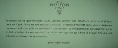 The Wesleyan Fund Wants You(r Money, Or We'll Kill This Tree)