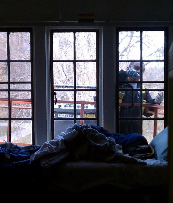 Peeping In Bedroom: View With A Room