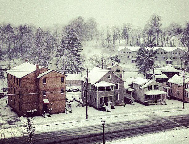 The view from Senior Fauver, as photographed by Tuna yesterday afternoon.