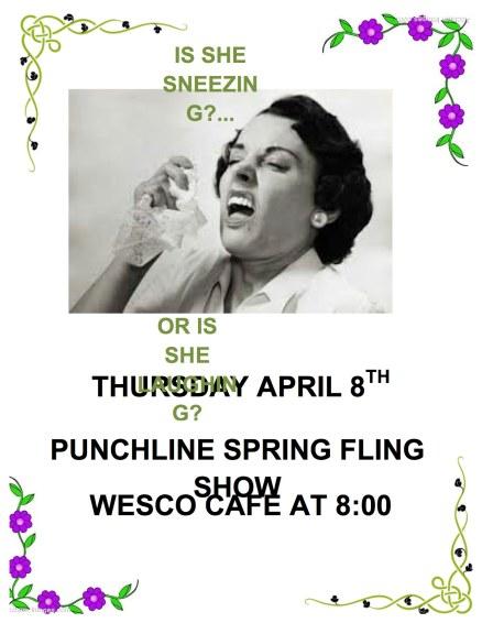 Punchline Spring Fling 2014 Poster