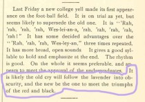 Oh yeah... our school color used to be lavender. It was changed in 1884... right when we started getting bad at football. coincidence??