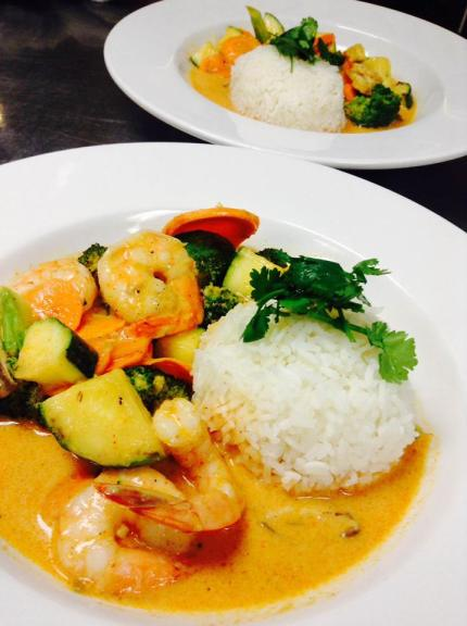 red curry w shrimp