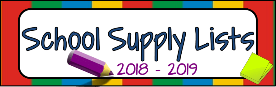Image of School Supply Lists Link
