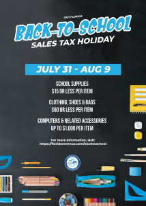 Back-to-School Sales Tax Holiday