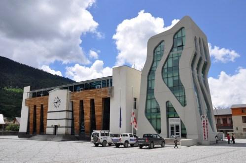 budynek sił początkowych w Mestii