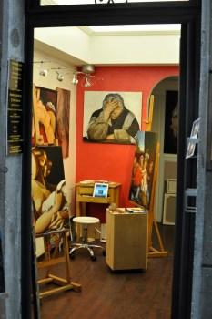 jedna z setek małych galerii / sklepów w Rzymie
