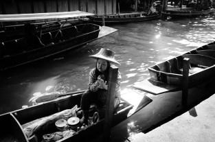 pływający targ, okolice Bangkoku, Tajlandia