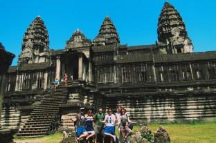 z przyjaciółmi w Angkorze
