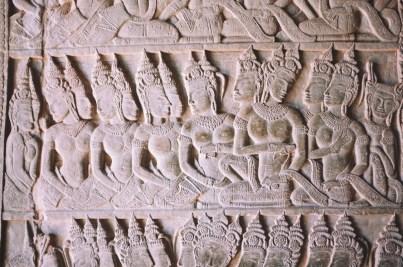 zdobienia Angkoru - płaskorzeźby w Angkor Wat