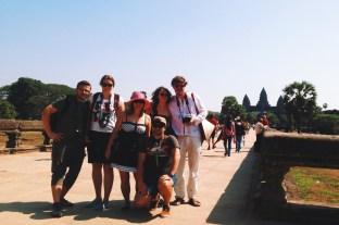 z Angkorem w oddali