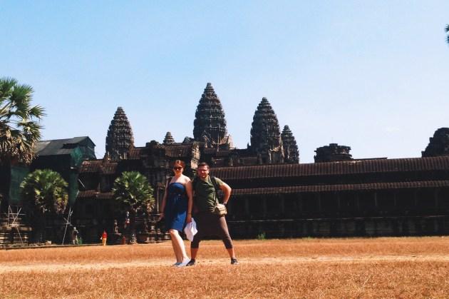 z Madzią w Angkor Wat