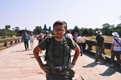 Wesołowski z Angkorem w tle
