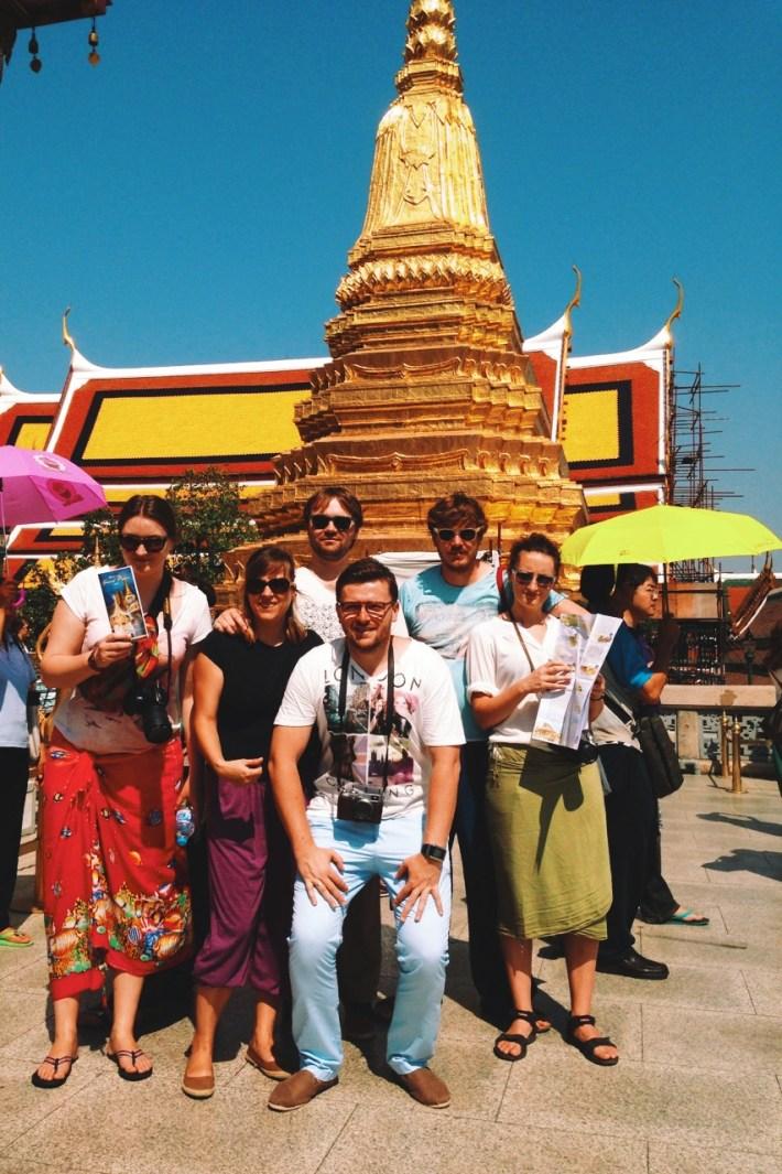 z przyjaciółmi w Bangkoku